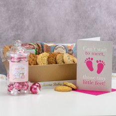 Hampers and Gifts to the UK - Send the Biscuit Favourites Hamper - NEW BABY GIRL