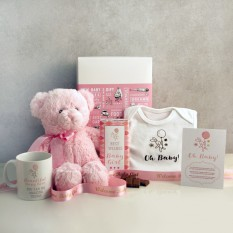 Hampers and Gifts to the UK - Send the Oh Baby! Pink Gift Set