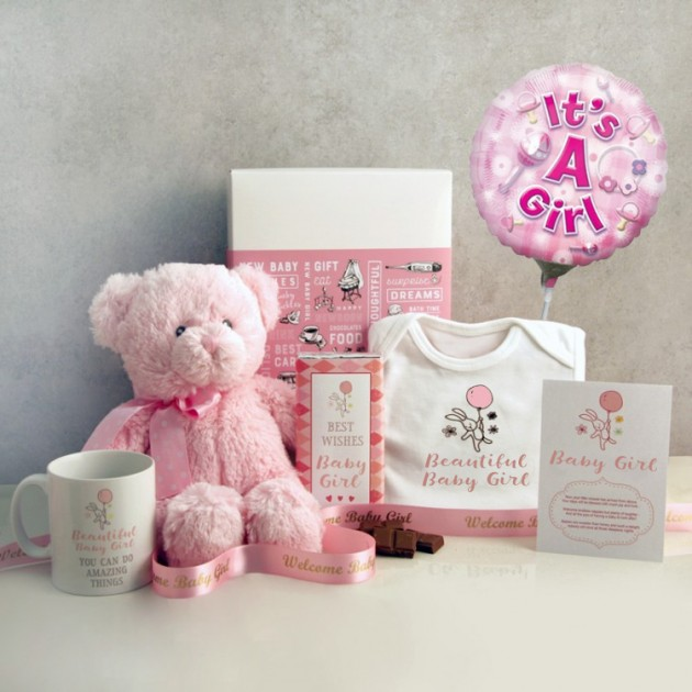 Hampers and Gifts to the UK - Send the Beautiful Baby Girl Hamper