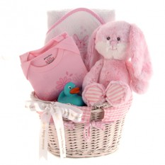Hampers and Gifts to the UK - Send the Welcome Baby Girl Gift Basket