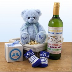 Hampers and Gifts to the UK - Send the Tickle on The Toes Baby Boy Gift Basket