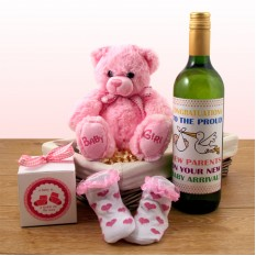 Hampers and Gifts to the UK - Send the Tickle on The Toes Baby Girl Gift Basket