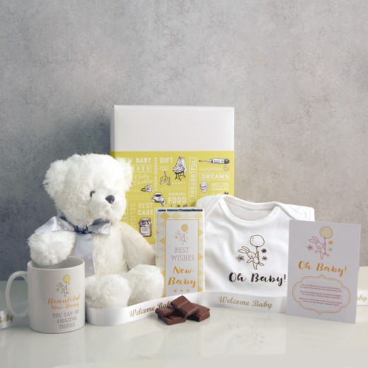 Hampers and Gifts to the UK - Send the Oh Baby! Yellow Gift Set