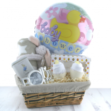 Little Bunny's Baby Shower Gift Basket