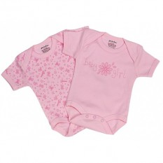 Hampers and Gifts to the UK - Send the Set of 2 Baby Girl Vests