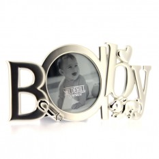 Hampers and Gifts to the UK - Send the Silver Baby Word Frame