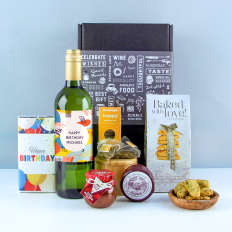 Hampers and Gifts to the UK - Send the Birthday Wine and Cheese Hamper