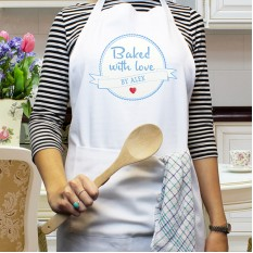 Hampers and Gifts to the UK - Send the Personalised Baked With Love Apron