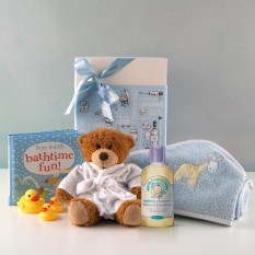 Hampers and Gifts to the UK - Send the Baby Boy Bath Time Fun Gift Set