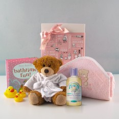 Hampers and Gifts to the UK - Send the Baby Girl Bath Time Fun Gift Set