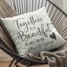 Hampers and Gifts to the UK - Send the Personalised Together Cushion