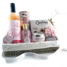 Hampers and Gifts to the UK - Send the Birthday Girl Fabulous in Pink Gift Basket