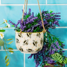 Hampers and Gifts to the UK - Send the Busy Bees Hanging Planter
