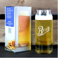 Hampers and Gifts to the UK - Send the Beer Can Glass