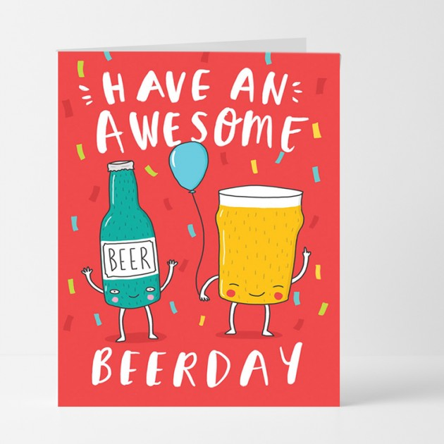 Hampers and Gifts to the UK - Send the Awesome Beerday Card