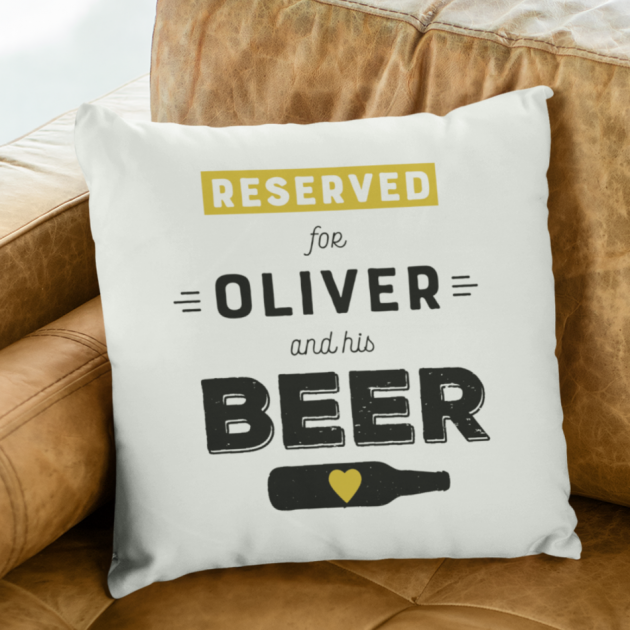 Hampers and Gifts to the UK - Send the Cushion Reserved for a Beer Drinker