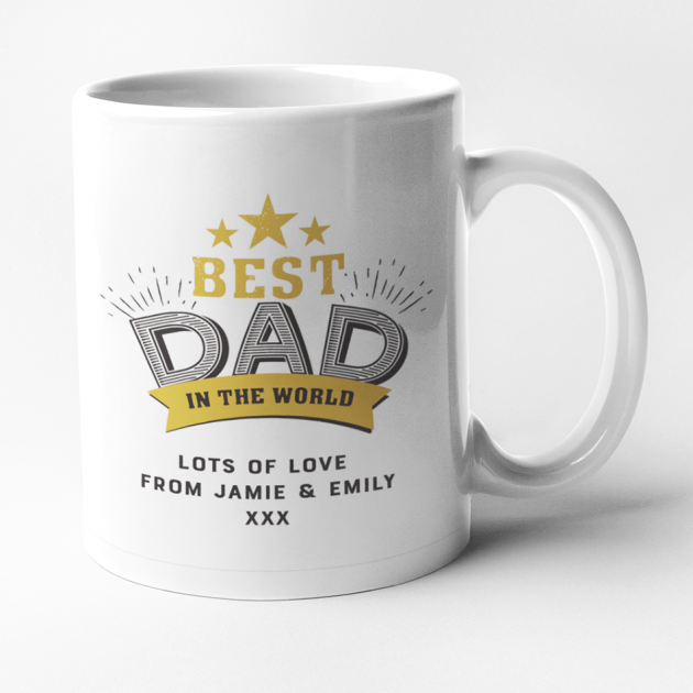 Hampers and Gifts to the UK - Send the Personalised Best Dad In The World Mug