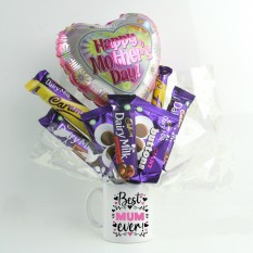 Hampers and Gifts to the UK - Send the Best Mum Ever Chocolate Mug Bouquet