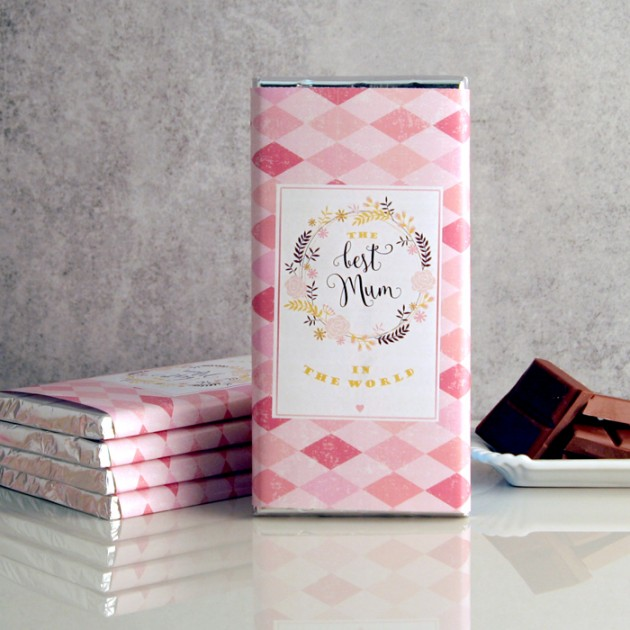 Hampers and Gifts to the UK - Send the Best Mum In the World Chocolate Bar