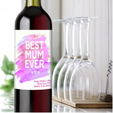 Hampers and Gifts to the UK - Send the Best Mum Ever Wine Gift