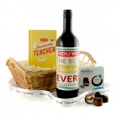 Hampers and Gifts to the UK - Send the Best Teacher Ever Gift Basket