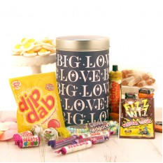 Hampers and Gifts to the UK - Send the Retro Sweets in Big Love Tin