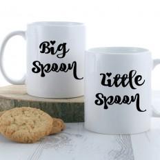 Big Spoon Little Spoon Mug Set