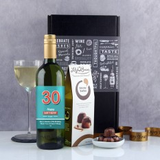Hampers and Gifts to the UK - Send the Big Numbers Personalised Wine Gift