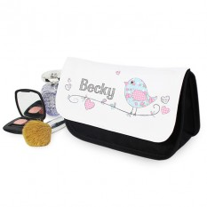 Hampers and Gifts to the UK - Send the Personalised Any Name Cosmetic Bag Floral