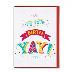 Hampers and Gifts to the UK - Send the It's Your Birthday Yay! Card