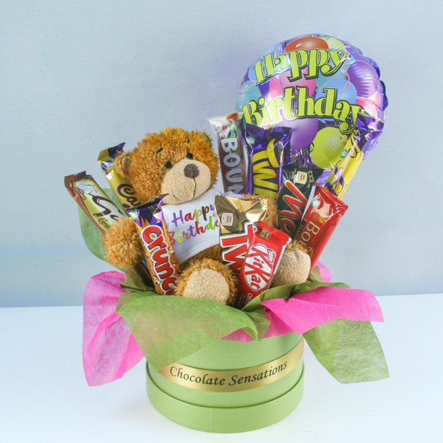 Hampers and Gifts to the UK - Send the Happy Birthday Chocolate Surprise