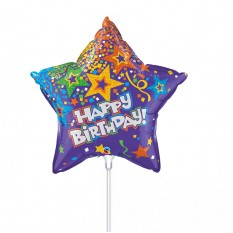Hampers and Gifts to the UK - Send the Happy Birthday Star Shape Mini Balloon
