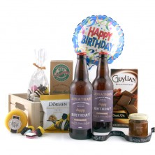 Personalised Birthday Beer and Snacks Hamper