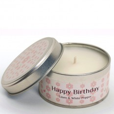 Hampers and Gifts to the UK - Send the Occasion Candle - Happy Birthday