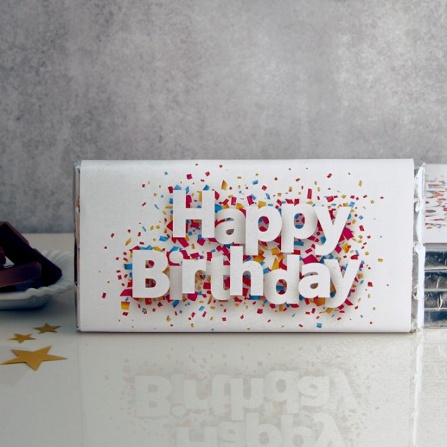 Hampers and Gifts to the UK - Send the Happy Birthday Chocolate Bar