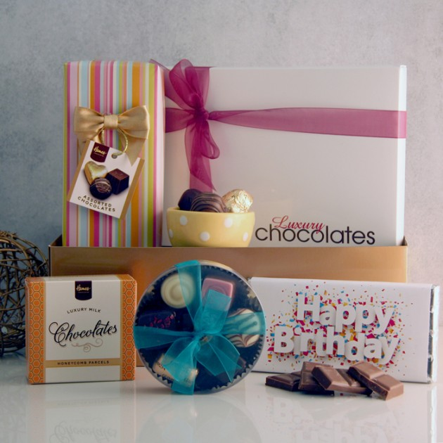 Hampers and Gifts to the UK - Send the Chocolate Hamper - Birthday Chocolate Treats