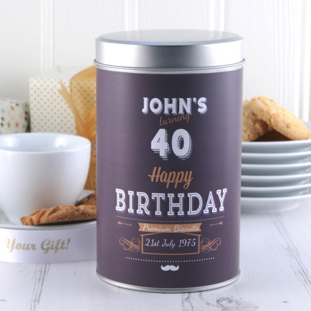 Hampers and Gifts to the UK - Send the Personalised Premium Birthday Biscuits