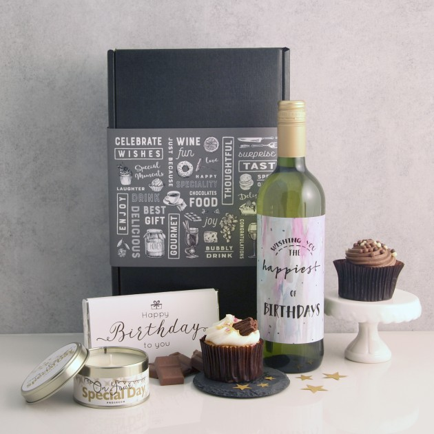 Hampers and Gifts to the UK - Send the Your Special Day Birthday Wine and Cake