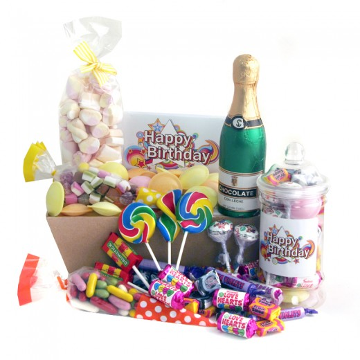 Hampers and Gifts to the UK - Send the Happy Birthday Celebration Sweet Hamper