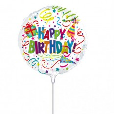 Hampers and Gifts to the UK - Send the Happy Birthday Celebration Mini Balloon