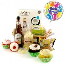 Pretty As Cupcakes Birthday Gift Basket Lemon