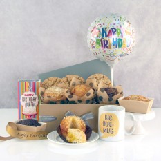 Hampers and Gifts to the UK - Send the Big Hug Birthday Cookies and Cake Hamper