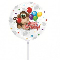 Hampers and Gifts to the UK - Send the Happy Birthday Monkey Mini Balloon