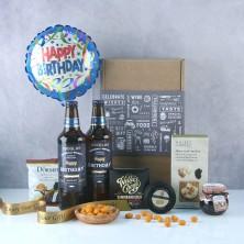 Personalised Birthday Beer and Snacks Hamper