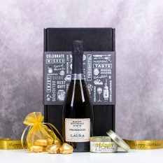 Hampers and Gifts to the UK - Send the Sparkling Birthday Prosecco and Chocolates Gift Box
