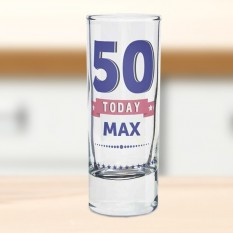 Hampers and Gifts to the UK - Send the Personalised ANY AGE Birthday Star Shot Glass