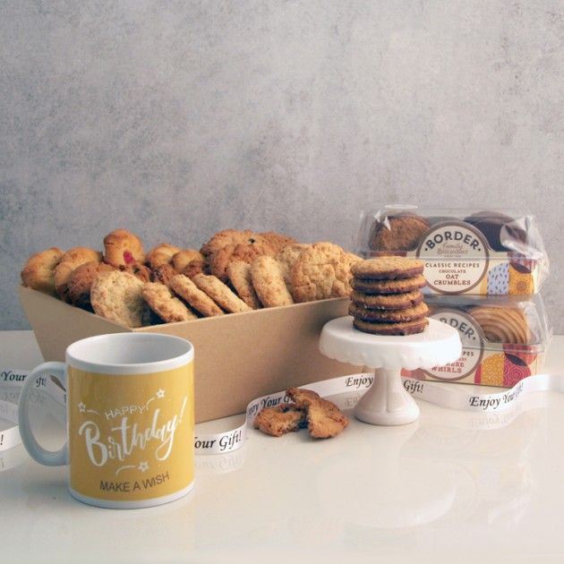 Hampers and Gifts to the UK - Send the Biscuit Favourites Hamper - HAPPY BIRTHDAY