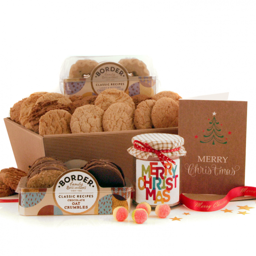 Hampers and Gifts to the UK - Send the Biscuit Favourites - MERRY CHRISTMAS
