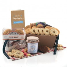 Hampers and Gifts to the UK - Send the Biscuit Favourites Hamper - NEW BABY BOY