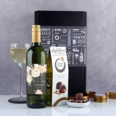 Hampers and Gifts to the UK - Send the Black & Ivory Florals Wedding Gift